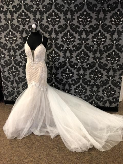 Calla Blanche COLLIN 18115 Women's Wedding Dress Lace/Tulle Size 10