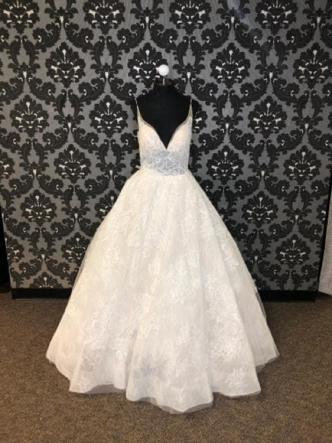 Calla Blanche CORINTHE 18114 Women's Wedding Dress Lace Ivory Size 12