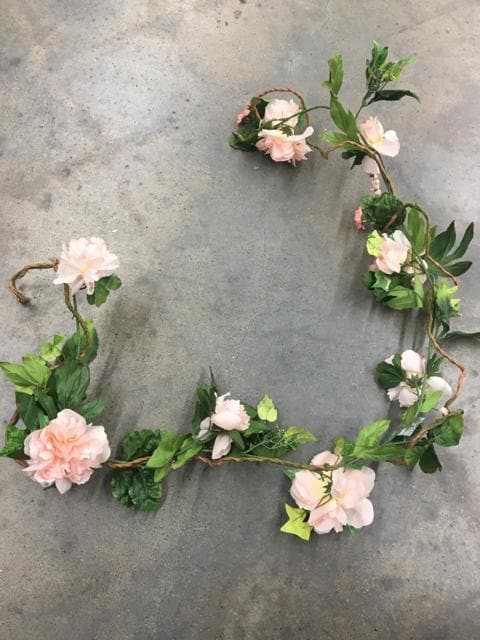 6' Various Pink Florals/Greenery Garland