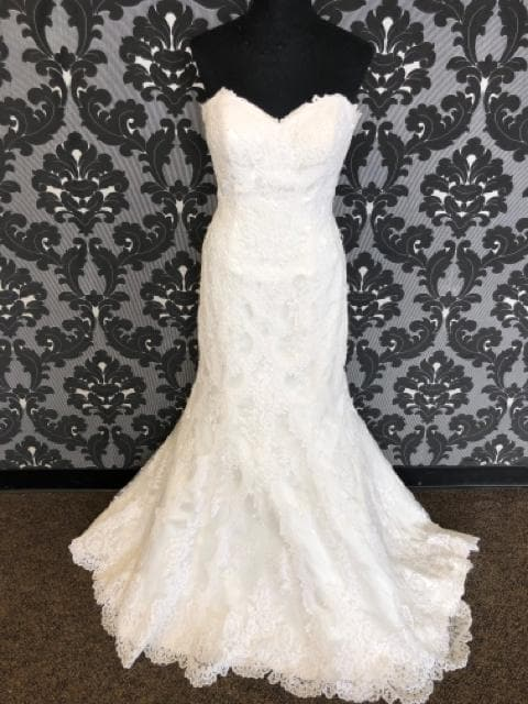 Stella York SABLE 5840 Women's Wedding Dress Lace Ivory Size 14