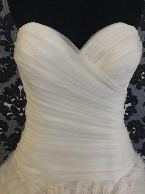 Size 14 Prosecco Wtoo Tulle Strapless Dropwaist/Ballgown