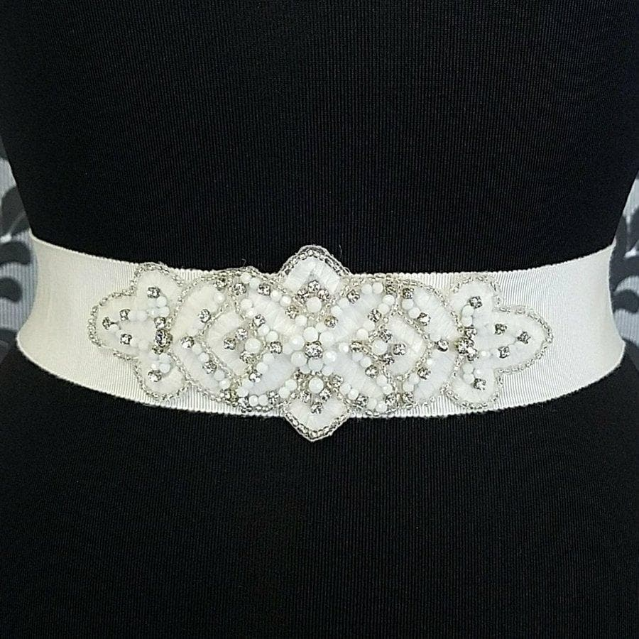 Ivory LaSposa Beaded Belt