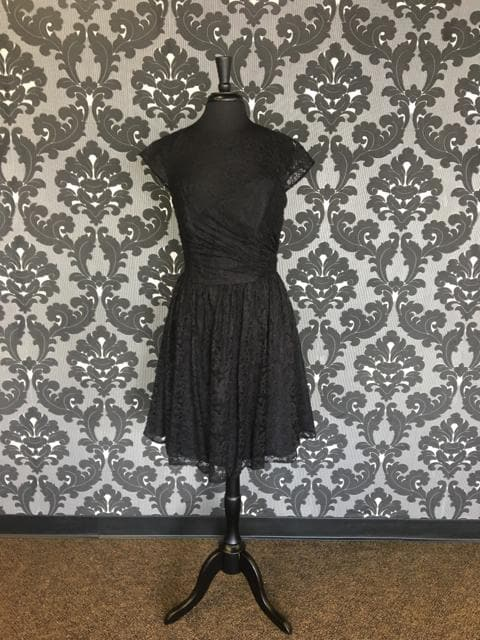 Size 12 Black B2 Jasmine B163023 Cocktail Lace Cap Sleeve