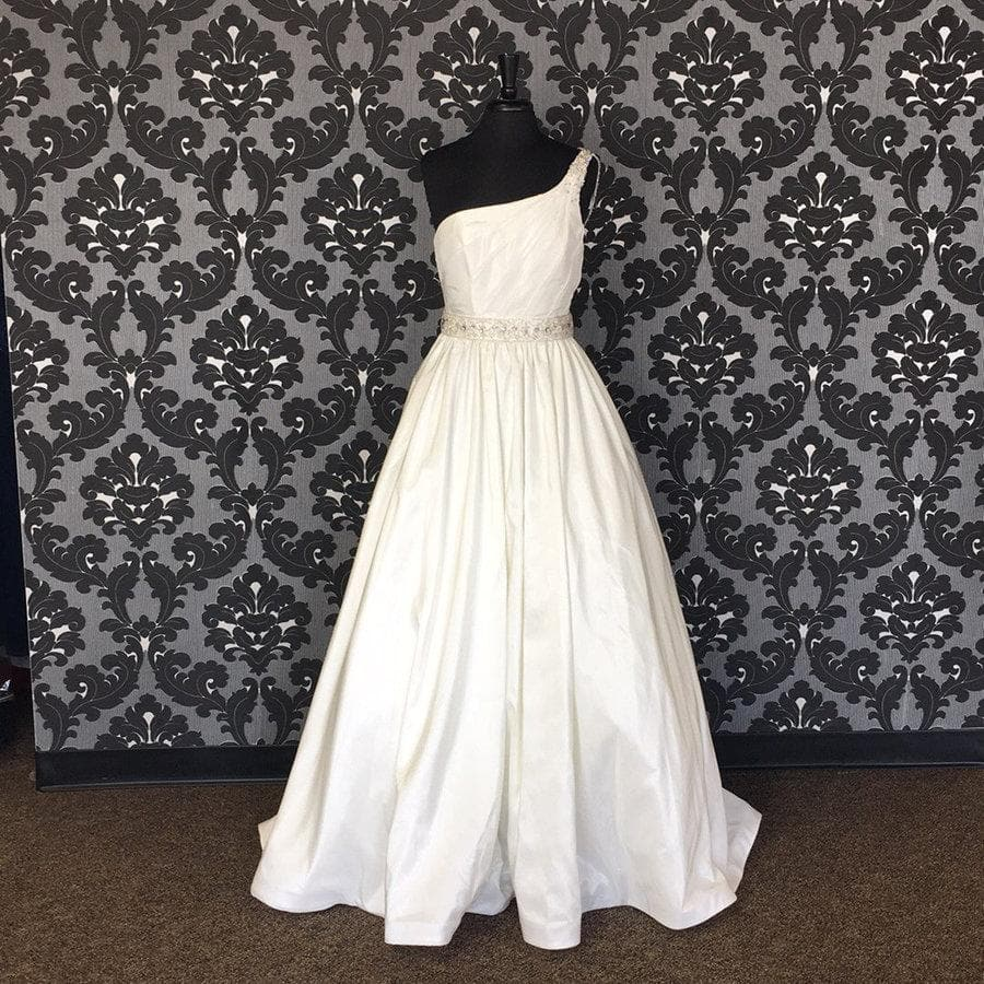 Size 12 Ivory Mori Lee Taffeta A-line WEDDING DRESSES