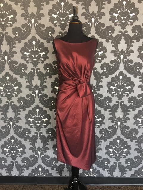 Size 12 Wine Social Occasions Cocktail Taffeta Sleeveless
