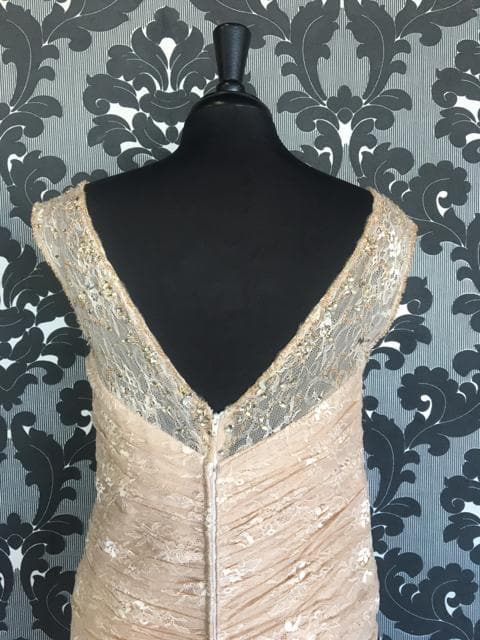 Size 14 Light Taupe Montage 115977 Floor Lace Sleeveless