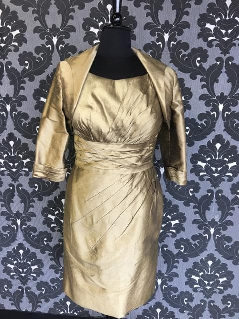 Size 16 bronze Social Occasions Cocktail Silk Sleeveless