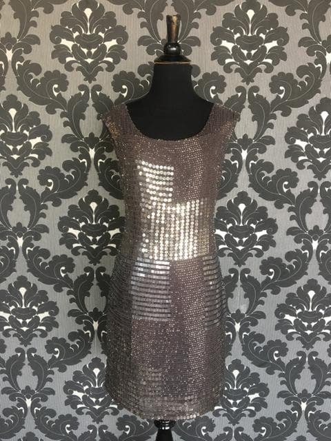 Size 4 Brown Adrianna Papell Cocktail Beaded Beaded  FORMAL DRESSES