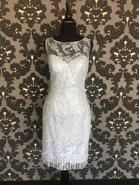Size 4 Light Blue Social Occasions Cocktail Lace Lace FORMAL DRESSES