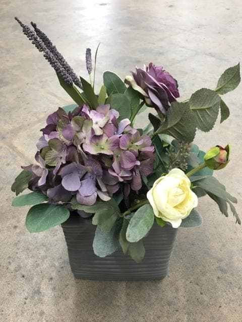Size 5.5 In Grey Ashland Ceramic CENTERPIECES