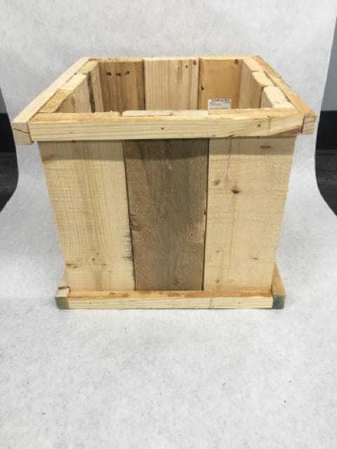 "Unfinsihed Wood Crate 13"" x 11.5"" x 10"""
