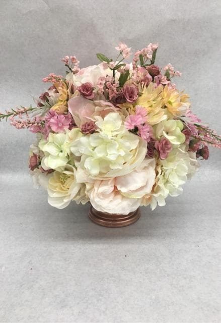 Centerpiece Floral/Glass Vase Rose Gold/Mauve/Blush/Ivory CENTERPIECES