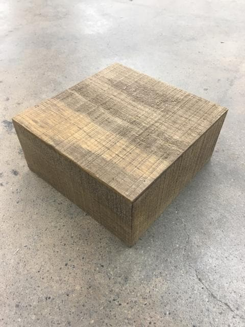 "6""x6""x3"" Stained Wood Centerpiece Stand"