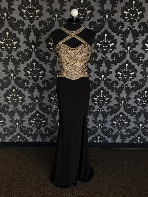 Size 6 Black/Nude/Gold Blush Polyester