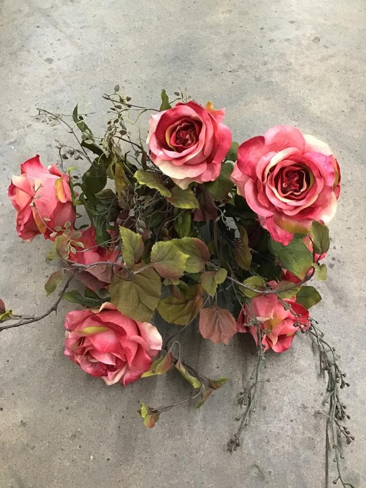 Hobby Lobby Rose/Greenery Bouquet Pink/Green Size 24""