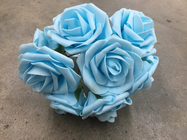 Rose Foam Light Blue 8ct