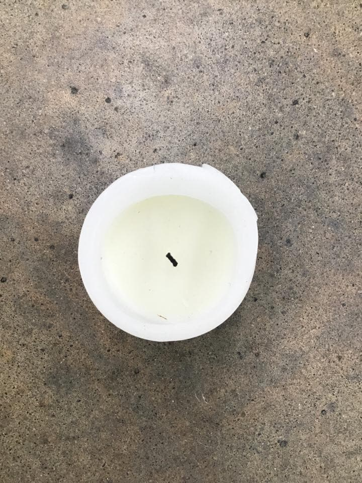 "Pillar Wax White Size 4"" CANDLES"