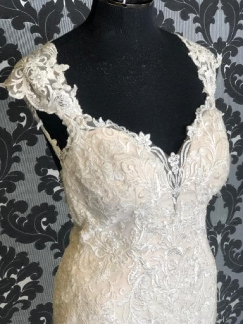 Stella York 6245 STACIE Women's Wedding Dress Lace Ivory/Champagne
