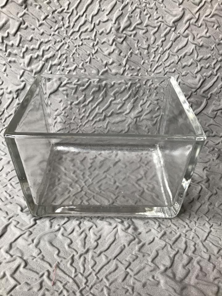 "Vase Glass Clear 5""x4""x3"" Rectangle"