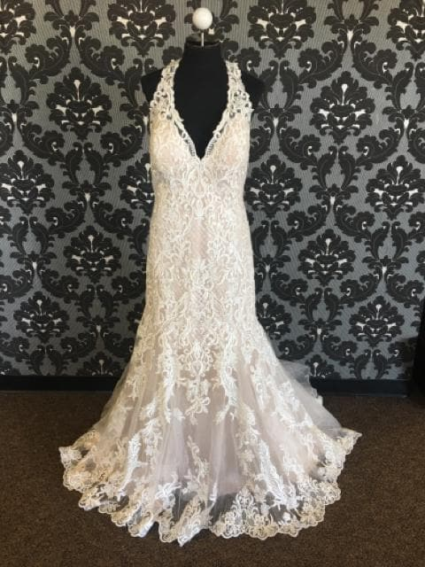 Allure Bridal W434 Women's Wedding Dress Lace Size 18W Lace WEDDING DRESSES