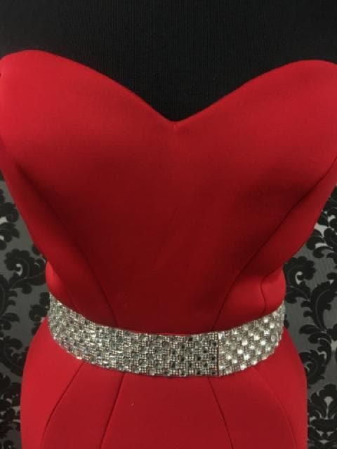 Jovani Women's Prom Dress Polyester Red Size 6 Sweetheart Strapless