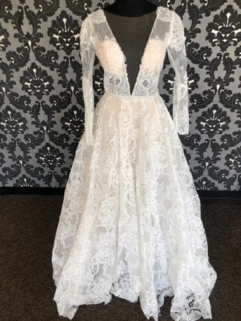 Calla Blanche CALISTA 18231 Women's Wedding Dress Lace Ivory/Nude A-line