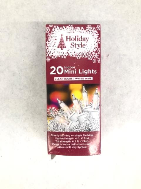 Holiday Style Light Strand LED warm white Size 4ft LIGHTS