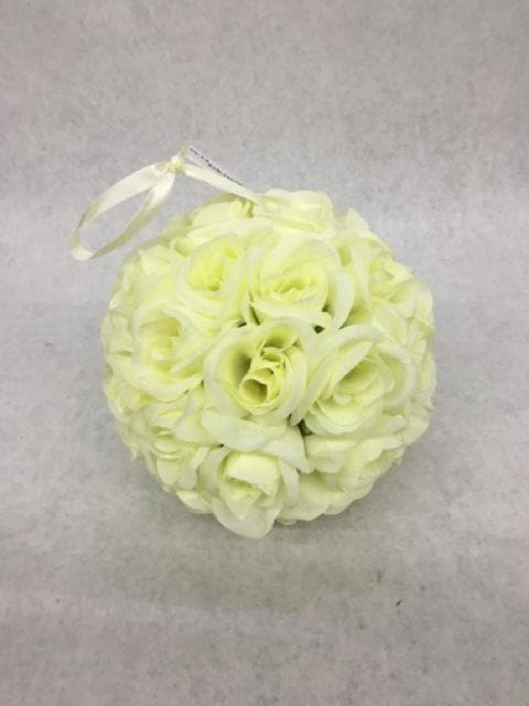 "Kissing Ball Flowers Ivory Size 6"" FLORAL"