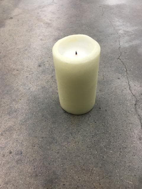 Pillar Candle Wax Ivory 5""
