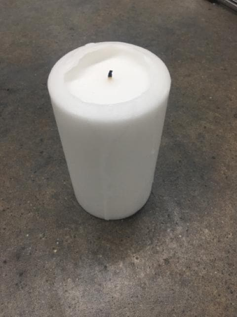 "Pillar Candle Wax Ivory Size 5"" CANDLES"