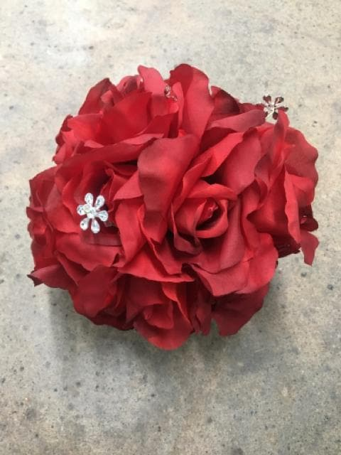 "Kissing Ball Red Size 5"" FLORAL"