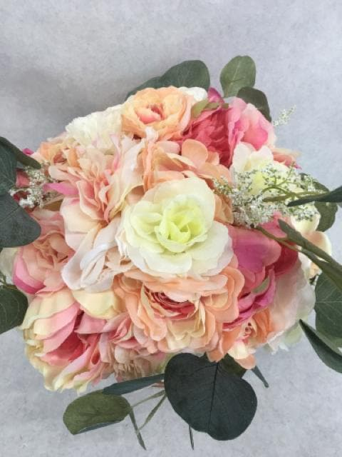 Centerpiece Floral/Glass Vase Rose Gold/Blush/Ivory/Green CENTERPIECES
