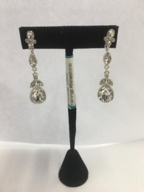 Marionat 12502 Earrings Rhinestone Silver
