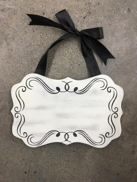 "7.5""x5"" White Accent Chalkboard Hanging or Easel"