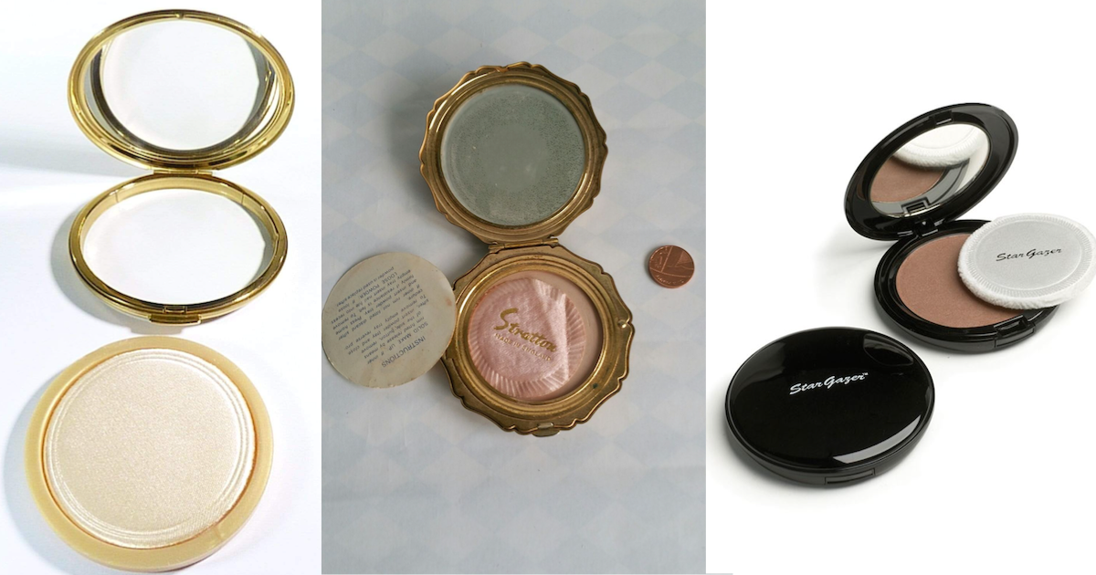 Make up powder compact two in one multifunctional