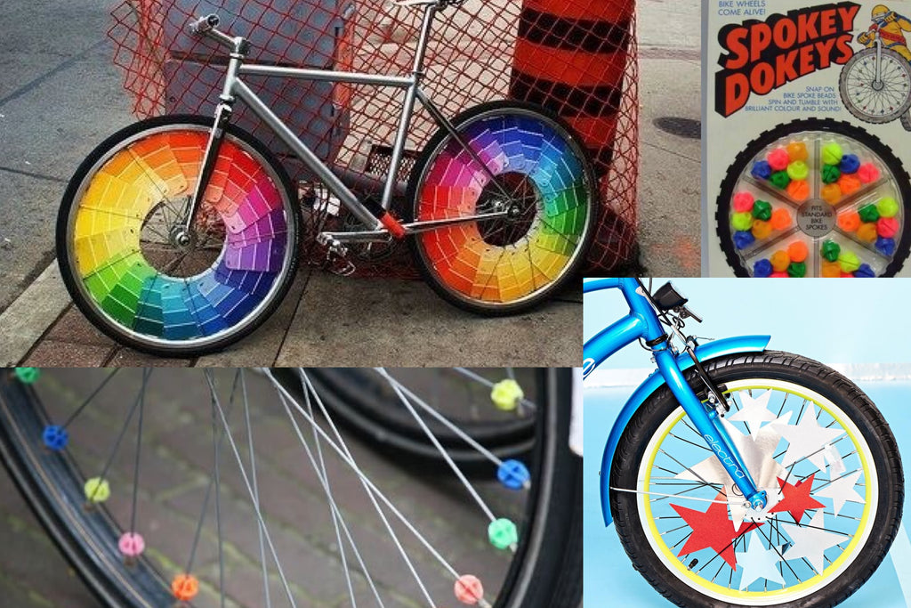 Spoke decorating your bicycle