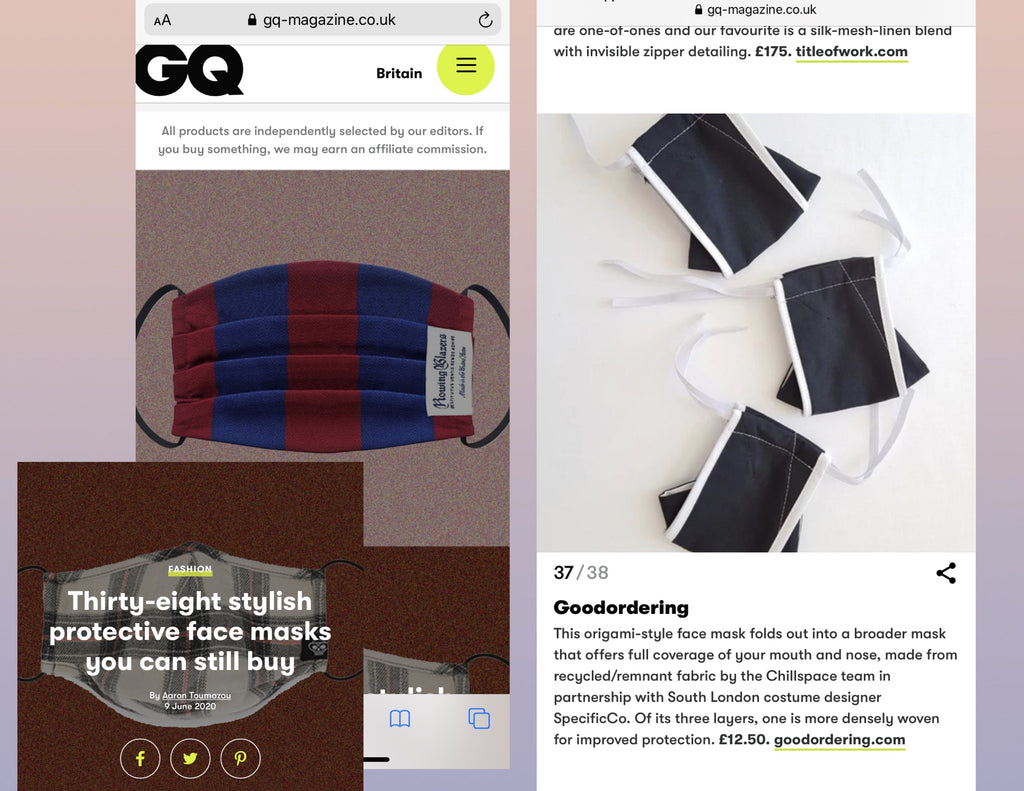 Goodordering in GQ magazine