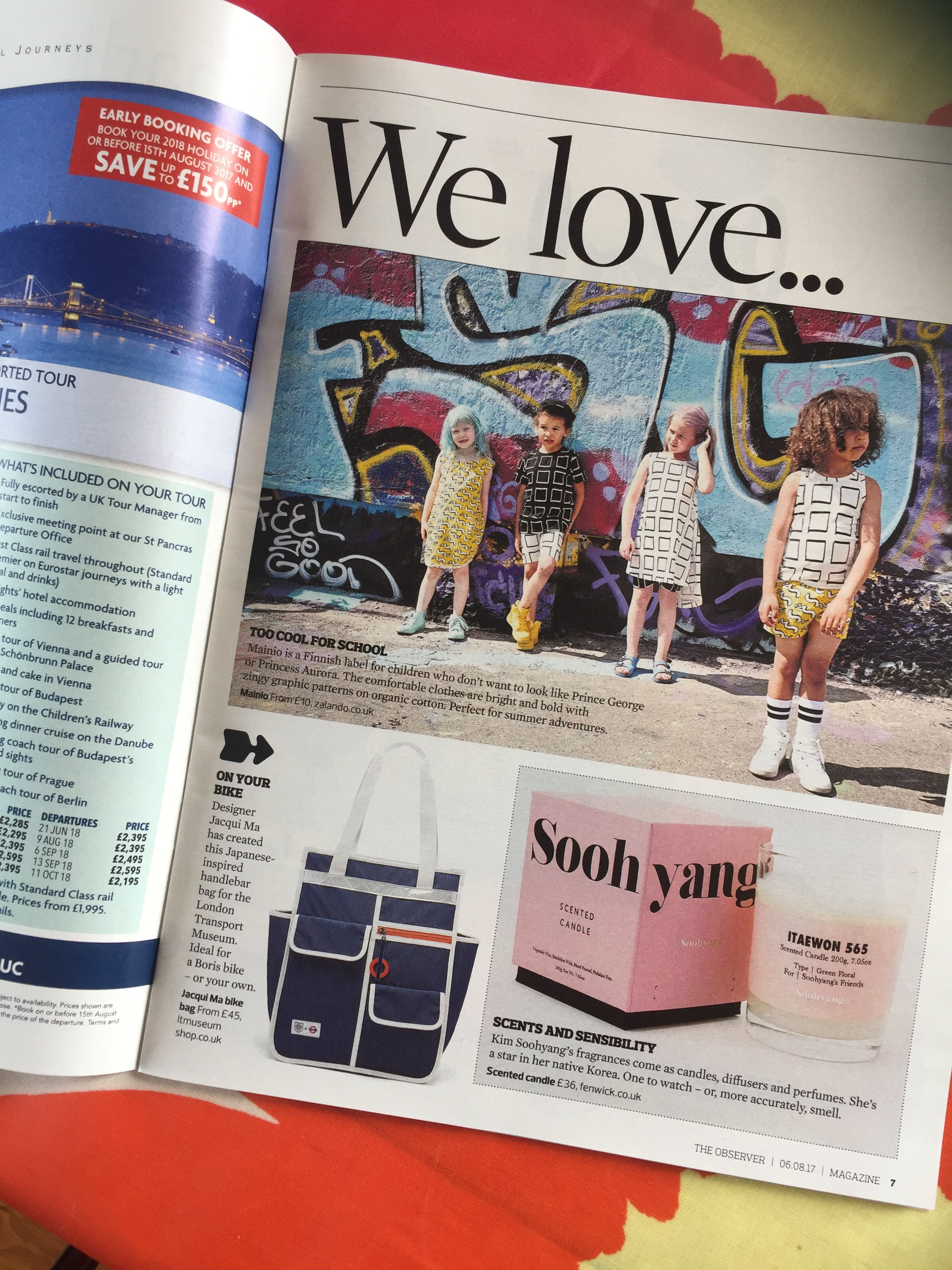 Goodordering x TFL collaboration in the Observer Magazine
