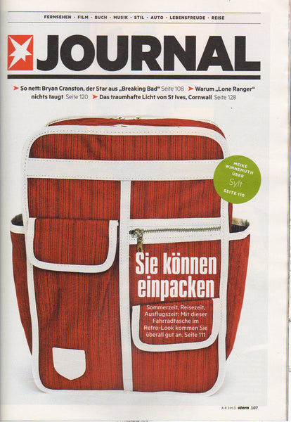 Stern magazine Germany featuring Goodordering Bicycle panniers and backpacks
