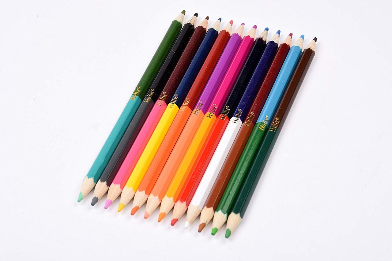 HELIX DOUBLE ENDED COLOUR PENCILS