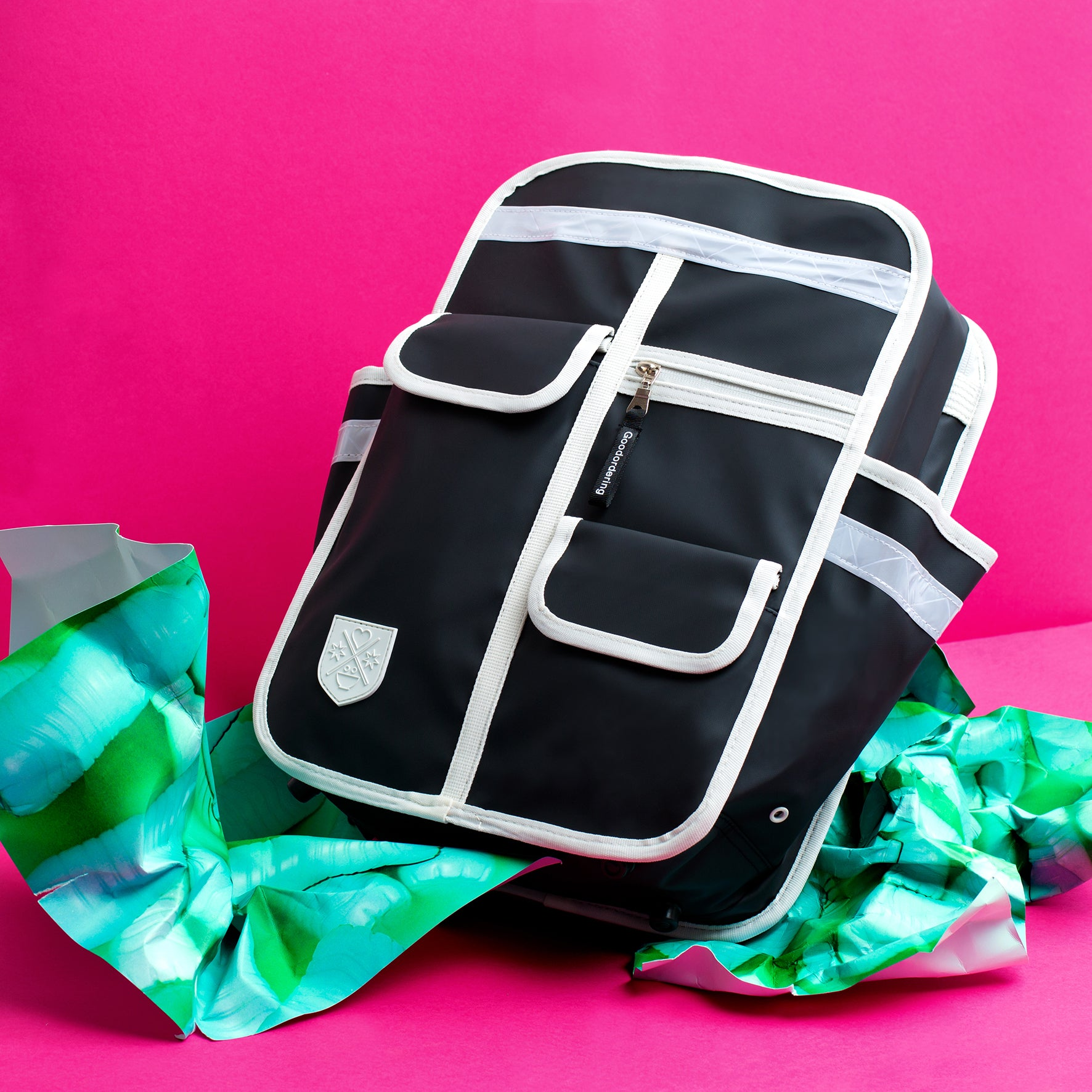 Goodordering backpack made from recycled water bottles