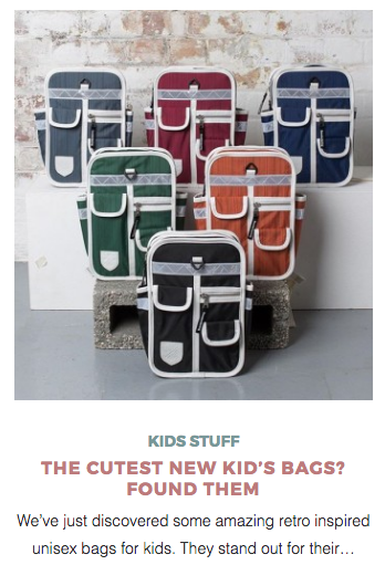 Goodordering mini backpacks featured on Petit and Small