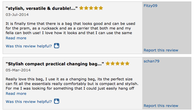 Goodordering buggy bag reviews on Mumsnet