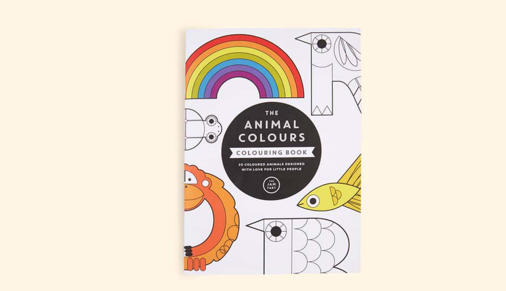 the animal colours colouring book stylish Kidly