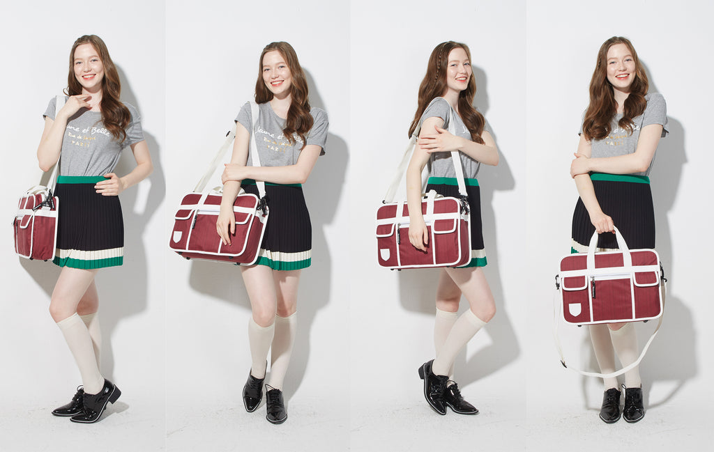 Goodordering shoulder bag inspired by japanese school bags