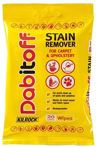 Dab it off stain remover wipes