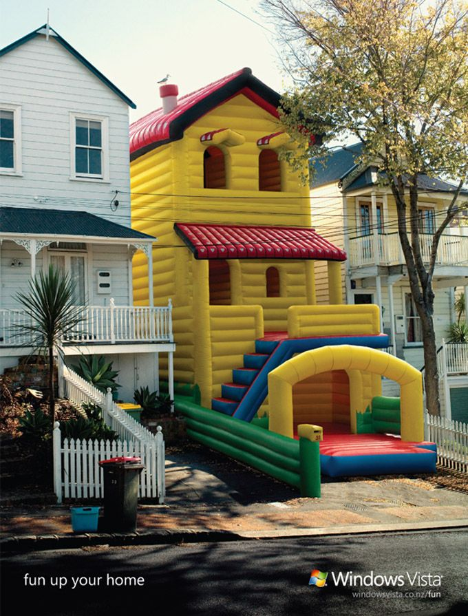 Inflatable house townhouse