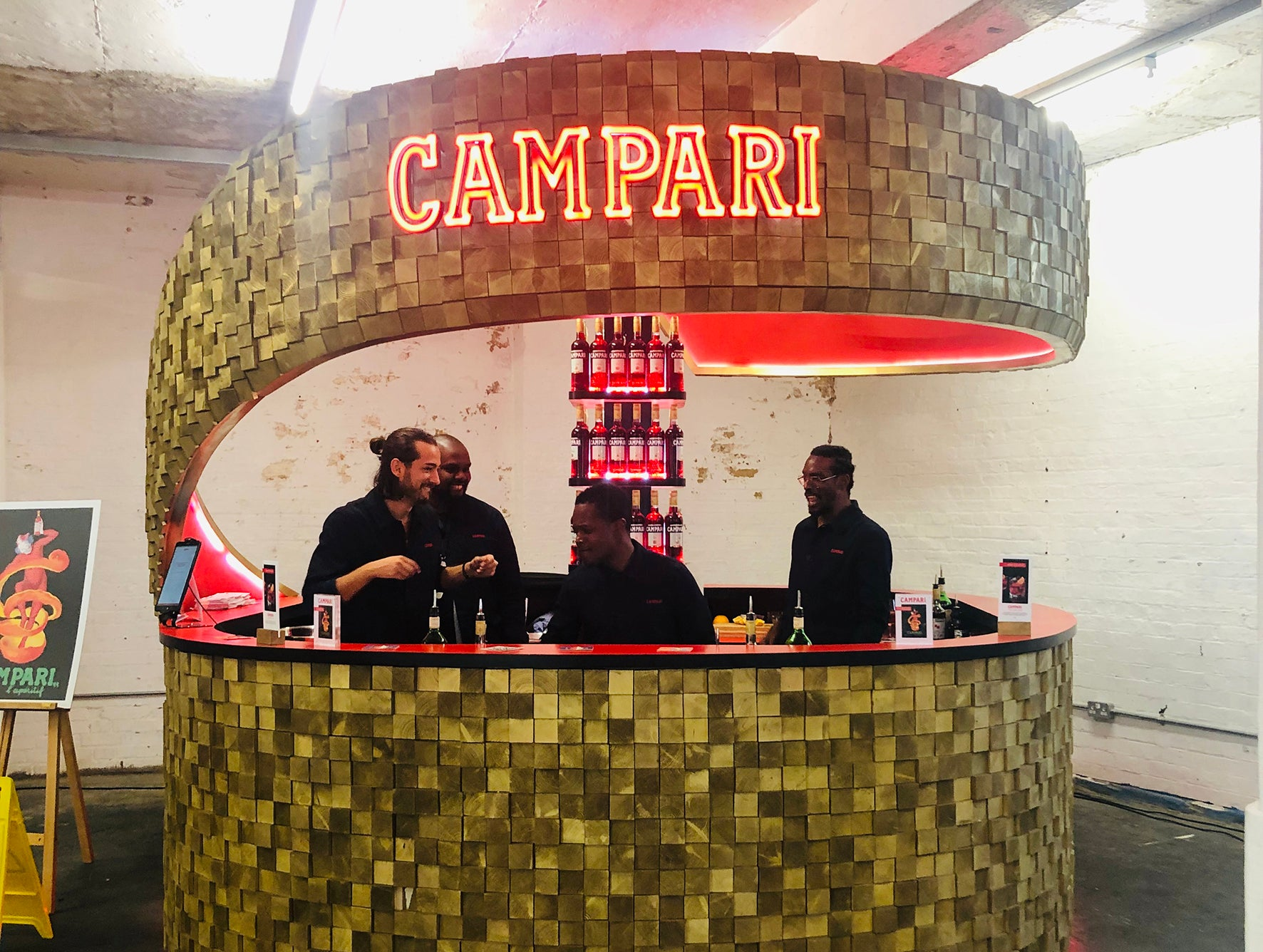 Campari stand at the London Design Fair