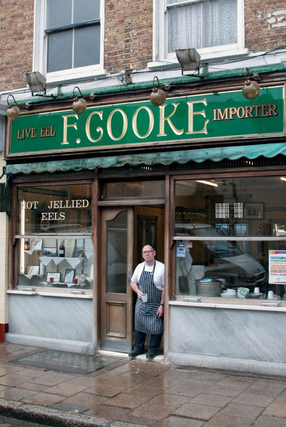 F. COOKE pie and eel shop east london broadway market