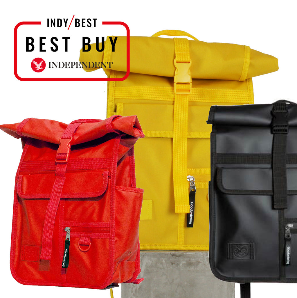 INDY BEST BUY GOODORDERING MONOCHROME ROLLTOP BACKPACKS